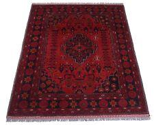 Afghan Khal Mohammadi 195 x 150 cm Handgeknüpfter Orientteppich rot, Medaillon
