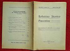 GG563-BOLLETTINO STORICO PIACENTINO-FASCICOLO 1°-2°, DOTT. S. FERMI, 1943