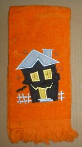 Halloween HAUNTED HOUSE Hand Towel