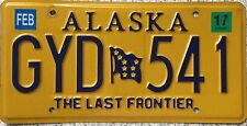 GENUINE Alaska The Last Frontier Flag USA License Licence Number Plate GYD 541