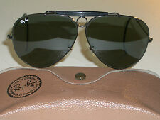 62mm VINTAGE B&L RAY BAN G15 BLACK CHROME WRAPAROUNDs SHOOTER AVIATOR SUNGLASSES