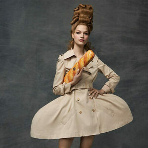AW20 Moschino Couture Jeremy Scott Leather Baguette Clutch Marie Antoinette