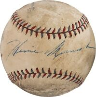 Beautiful 1932 Heinie Manush Signed Official American League Baseball PSA DNA