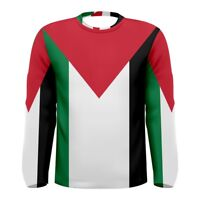 Palestine Palestinian flag Sublimated Men's Long Sleeve T-shirt S-3xl Free Ship