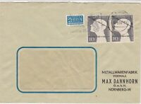 Germany 1953 Nurnberg Cancel Obligatory Tax Aid For Berlin Stamps Cover Ref25797