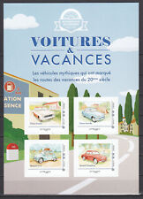 FRANCE 2020 Voitures et vacances cars adhesive 3 collector blocs MNH **