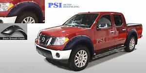 """BLACK PAINTABLE Pop-Out Fender Flares 05-14 Fits Nissan Frontier 58.6"""" 59.5"""" Bed"""