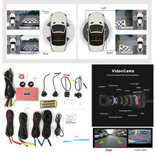 360° Seamless Bird View Panoramic Parking Monitoring System Night Vision w/4 Cam