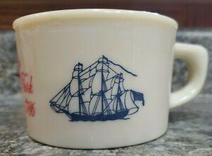 OLD SPICE SHAVING MUG Ship Grand Turk Salem 1786 Vintage Cup Shulton Excellent
