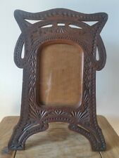 Antique Arts and Crafts Movement wooden photo frame