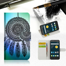 Dream Catcher Wallet Case Cover For Telstra Optus Alcatel Pixi 3 4.5--A026