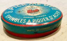 Antique tin box PRYM needles since 1580 Made in GERMANY dates from before 1940