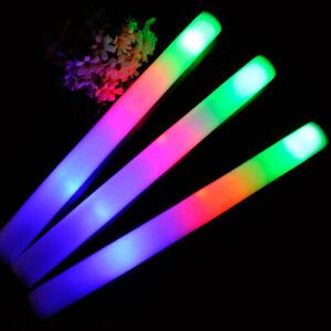 10x Light Up Foam Sticks LED Wands Rally Rave Batons DJ Flashing  Glow  Stick