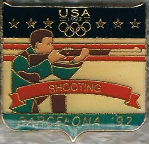 1992 Barcelona USA Olympic Shooting Team NOC Sports Pin