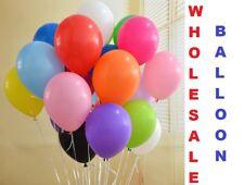 100 x Large PLAIN BALLOONS helium balloon High Quality Birthday function Wedding
