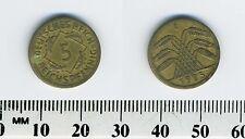 Germany 1925 E - 5 Reichspfennig Aluminum-Bronze Coin - Muldenhutten Mint