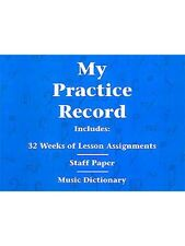 Hal Leonard Student Piano Library My Practice Record Learn to Play MUSIC BOOK