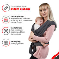 BABY SLING SRETCHY WRAP CARRIER | BREASTFEEDING SLING - BY AWARD WINNING SANGGOL