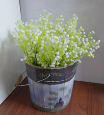 Set of 10 White Bunches Baby'S Breath Artificial Plastic Flowers