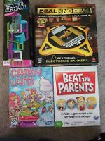 Family Kids Board Game Lot of 4 Candy Land, Deal or No Deal, Beat the Parents