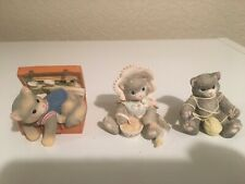 Enesco Vintage Calico Kittens Lot of 3-Playful, Tummy Full of Love, Hug a Day