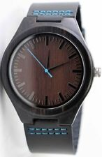 Genuine Leather Band Analogue Casual Round Wristwatches