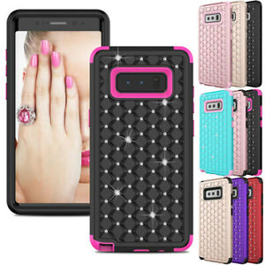 For Samsung Galaxy Note 8 9 10 Plus 5G S9 S10 Case Bling Armor Hard Phone Cover