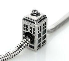 POLICE BOX Charm Bead Stainless Steel Fits Bracelets SSTB1