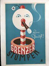 Original Vintage Poster Grenzer Stumpen