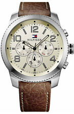 Tommy Hilfiger Leather Chronograph Mens Watch 1791107