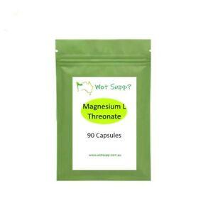 Magnesium L Threonate 90 x 600mg Capsules  FREE POSTAGE Oz Store