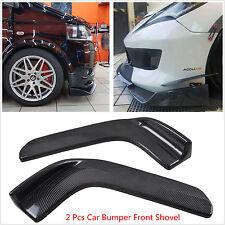 2pcs Winglet Type Carbon Fiber Look Car SUV Front Bumper Lip Anti-Scratch Shovel