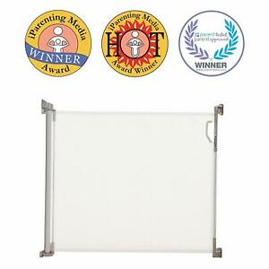 Stork Retractable Mesh Baby and Pet Gate (Fit Opening 0-140cm) - White, Open Box