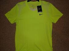 NWT Nike Nadal Vamos Court 2010 Open Lime Tennis Shirt Federer 381364-349 Medium
