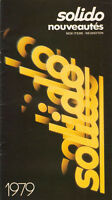 Solido New Items Catalogue - Published by Le Jouet 1979