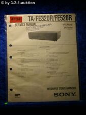 Sony Service Manual TA FE320R /FE520R Amplifier (#4134)