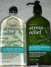 "Bath & Body Works Aromatherapy ""Eucalyptus Spearmint"" Lotion & Body Wash NEW"