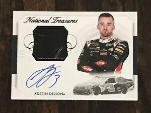 Austin Dillon Panini NATIONAL TREASURES #1/5 Race Used SHEET METAL card RARE! #1