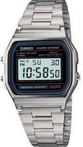 Casio Watch Retro Digital Unisex A-158W  A-158 Original New Digital  A158 Silver