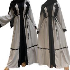 Dubai Style Open Cardigan Abaya Jilbab Muslim Women Maxi Dress Kaftan Arab Robe