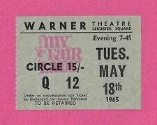 "Audrey Hepburn ""MY FAIR LADY"" Lerner & Loewe 1965 Motion Picture London Ticket"