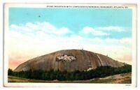 Stone Mountain with Confederate Memorial Monument, Atlanta, GA Postcard