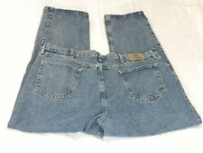 Wrangler Mens Jeans 42 x 32 Blue Denim Relaxed Fit Boot Cut