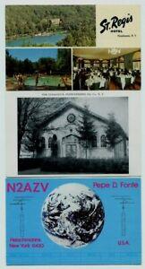 St. Regis Hotel, Jewish Synagogue, QSL radio card Fonte, Fleischmanns NY (3)