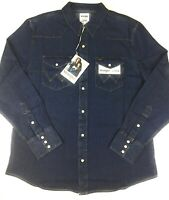 Wrangler Jeanshemd Jeans Hemd New 1 dunkel blau langarm Größe von L bis 3XL