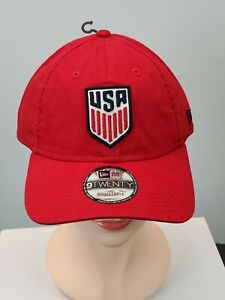 New Era USA Soccer Classic Hat Cap 9Twenty Adjustable Red *READ*