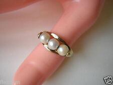 Schöner Gold Ring 333 GG 8 Kt mit 3 beweglichen Perlen Gr 59/ 2,23 g