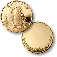 Prairie Dog / Cynomys leucurus - Engravable MerlinGold Coin