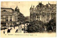 CPA 90 Territoire-de-Bellefort Belfort Boulevart Carnot et Grands Magasins animé