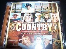 Random Acts Of Country Various 2 CD – Like New (Alan Jackson Lonestar Sara Evans